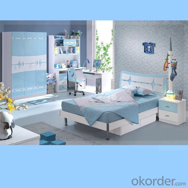 Light Blue + White Color Children Furniture Sets Kids Bedroom/ Room for Studying Furniture