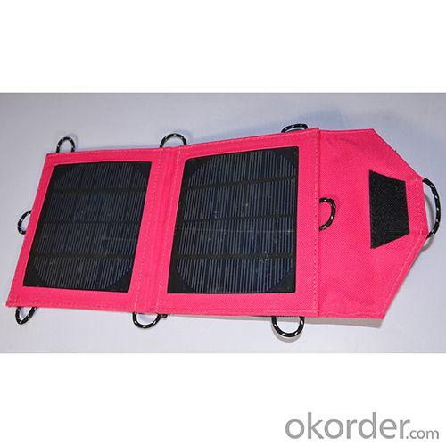 Best Price Foldable Solar Charger Fashion Solar Charging Bag 3.5w 700 mah For Smartphone PDA Tablets Pink