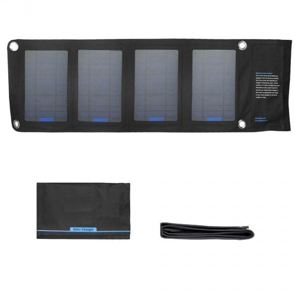 Wholesale Foldable Solar Charger Solar Bag 14W 5V 1900mah 18v 800mah USB Solar Charger For Mobile Phone Tablet PC Laptops