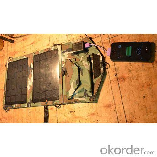 Emergency Foldable Solar Charger With 7W Solar Panel, Foldable Solar Charger For iPhone, High Efficiency Solar Mobile Charger