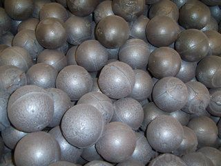High Chrome Cast Grinding Ball Well Abrasive Resistance Top Quality For Cement and Mine