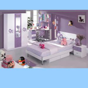 Purple Color Children Bedroom Furniture Cute Bedroom Sets