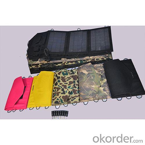 Dual USB 1500mah 5v 13-18v Hot Selling 12W Solar Panel  Camouflage Foldable Solar Charger Portable Solar Charger