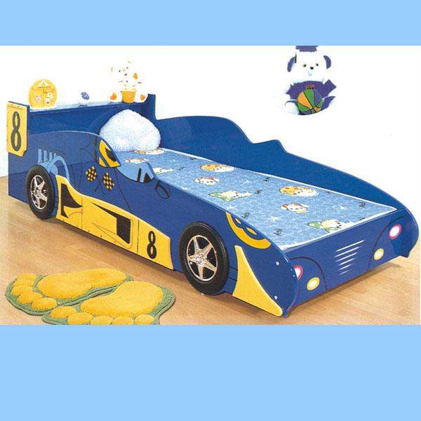 Dark Blue Car Bed For Kids Bedroom Furniture