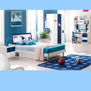 Sea Blue Children Furniture Sets Kids Bedroom/ Studying Room Furniture