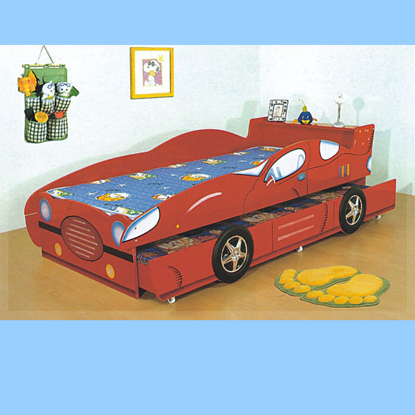 Fashion Car Bed Children Bedroom Furniture Sets Red