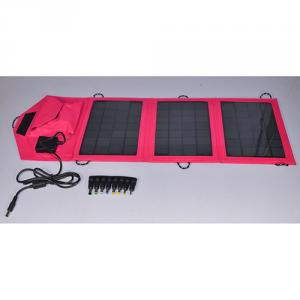 2014 Hot Selling Travel Power Bank Solar Mobile Charger With Flexible Foldable Solar Panel Charger Pink