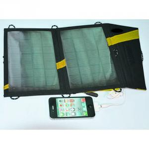 2014 Newest Portable Folding Solar Charger 7W 1000MAH Flexible Foldable Solar Charger For Mobile Tablet PC With USB Output