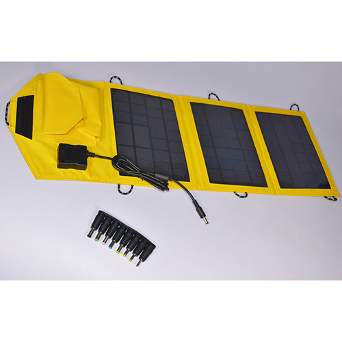 Hot Sale Mobile Solar Charger Foldable Solar Charger With 10.5W Solar Panel 5v 1600mah Mobile Charger Yellow