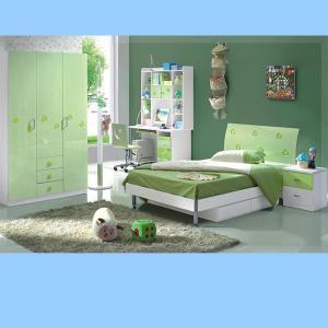 Light Green Color Children Furniture Sets Kids Bedroom Furniture