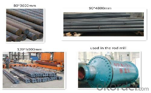 Different Types for Grinding Rod used in Rod Mill