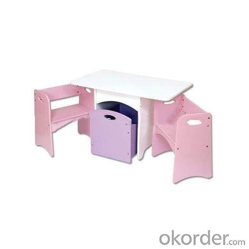 foldable pink children table