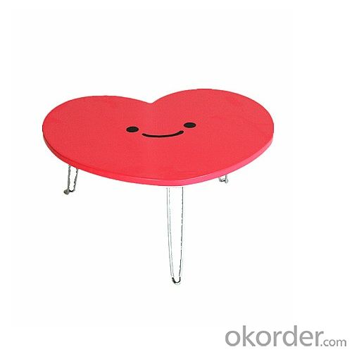 3D Heart Shape Wooden Children Table