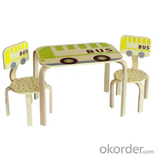 fruit color bus pattern kids desk