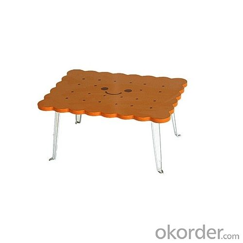 3d biscuit design foldable children table