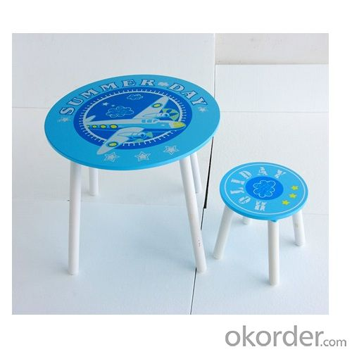 blue color round table for kids