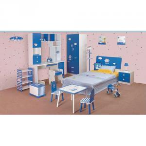 2014 Latest Room Furniture,Children Bedroom Set Blue Color For Boy Style