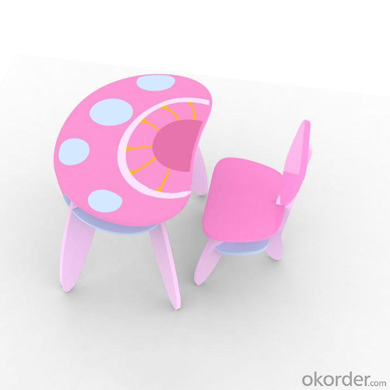 Mushroom Children Chair With Back Red