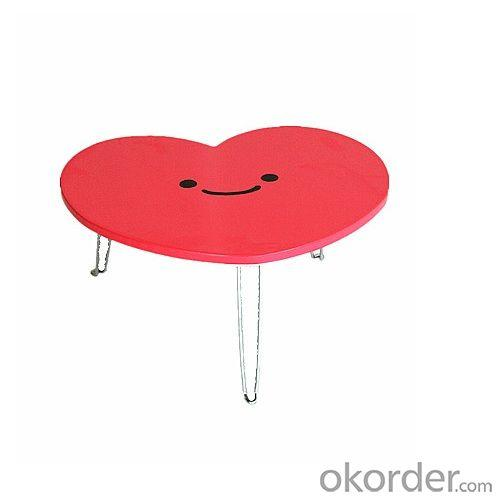 China Factory 3D Heart Shape Wooden Folding Children Table For Play Study Dinner
