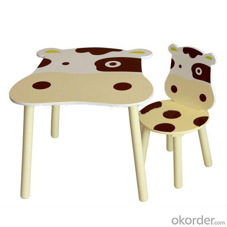 China Manufacture Wooden Children Table Cute Cartoon Cowabunga Kids Desk
