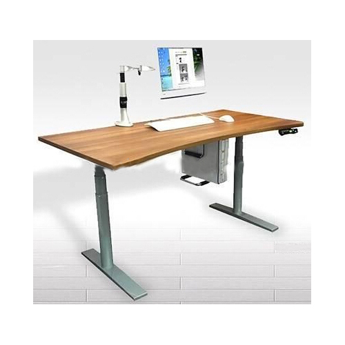 Electric Height Adjustable Laptop Desk With Cpu Holder And Monitor Arm