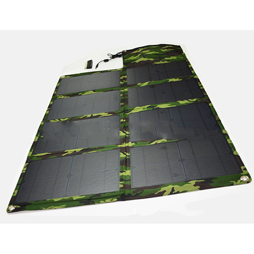 China Manufacturer Laptop Solar Charger USB 80W 5V 18V 4400mah Foldable Solar Charger Solar Bag Solar Power Bank