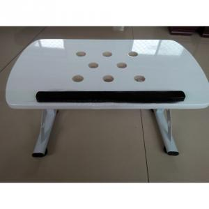 Foldable Height Adjustable Wood Bed Rolling Laptop Desk