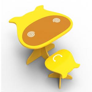 Little Cow Shape Kids Table And Chair