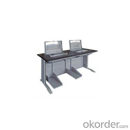 Double Flip-Screen Computer Table | Computer Desk | Training Table