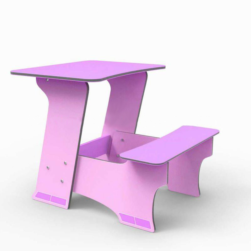 Hot-Sale Children Study Table Furniture Purple
