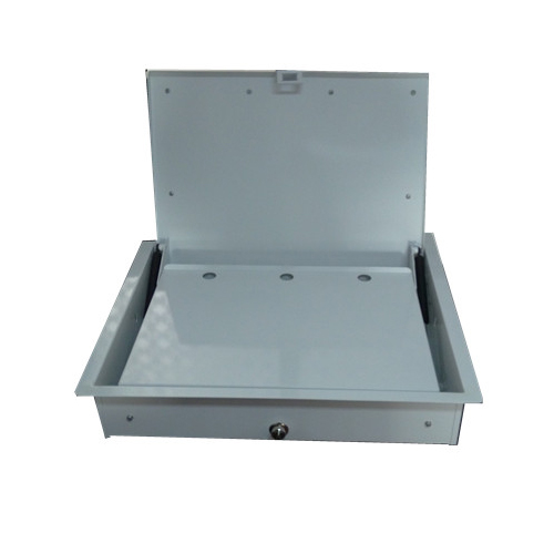 Wooden Fliptop Computer Box For 15' Laptop,Flip-Up Laptop Holder Lift Lz-1353-15