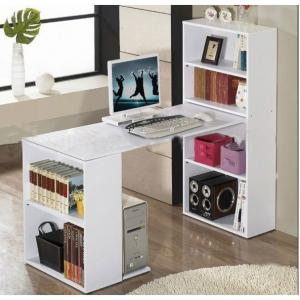 Computer Desk Table W Pc Stand W 6 Storage Shelving Book Shelf Study Office
