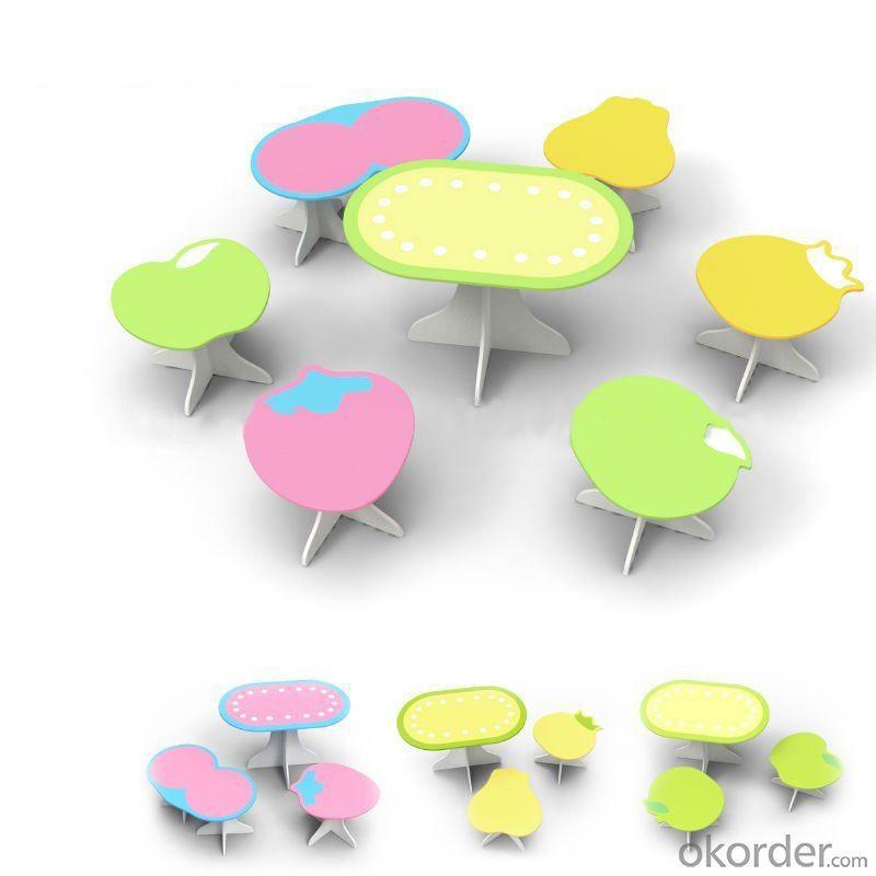 Kindergarden Kids Table And Chair Set, Newest Design Children Preschool Study Furniture Set