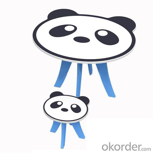 Panda Animal Shape Kids Study Furniture Set