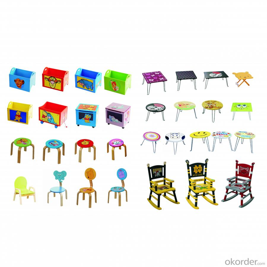 2014 Newest Novel Detachable Car Design Children Table With 2 Stools Blue Color