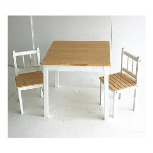 Classic Solid Color Natural Wood Children Study Table, Nature Wood Children Desk And Stool Set