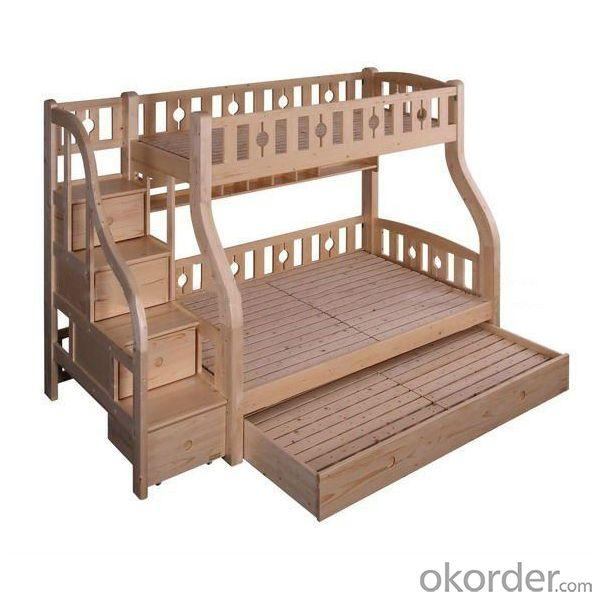 Modern Doulbe Beds With Steps And Bottom Drawers Cabinet Wood Children Furniture Sets