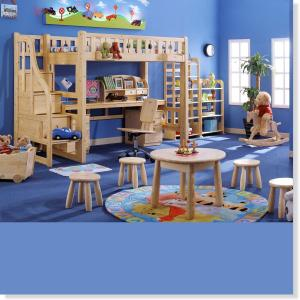 Wood Children Furniture Sets Kids Bedroom/ Studying Room Furniture