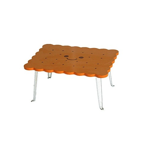 Cute 3D Biscuit Shape Foldable Table And Chair Set Kids Dinning Folding Table