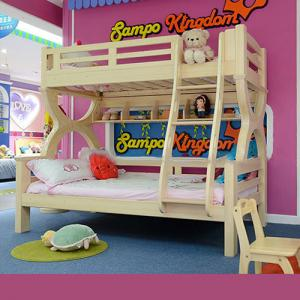 Kindergarden Kids Children Furniture With Double Beds