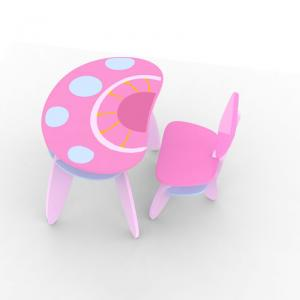 Mushroom Children Chair With Back Pink