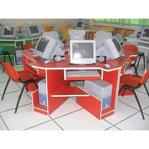Wooden Desktop School Computer Table Design