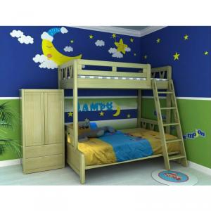 Modern Doulbe Beds Wood Children Furniture Sets