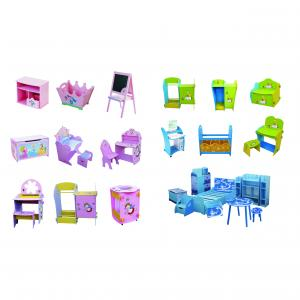 Novel Detachable Red Bus Shape Children Table And Chair Set 3D Cartoon Shape Kids Study Desk