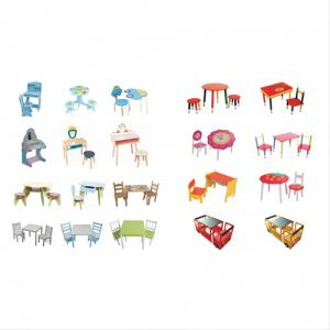 China Manufacturer Hot Selling Pencil Stand Design Cartoon Wooden Table