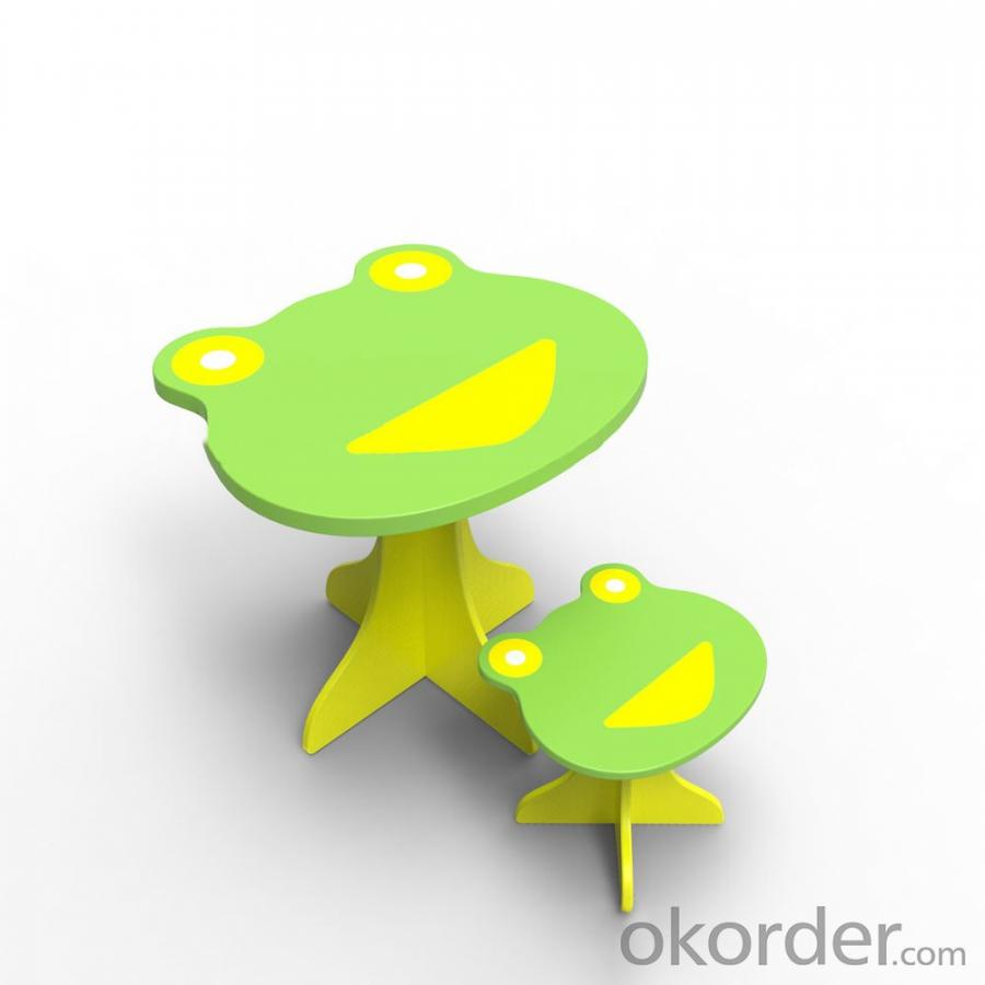 Green Frog Animal Shape Kids Study Furniture Set