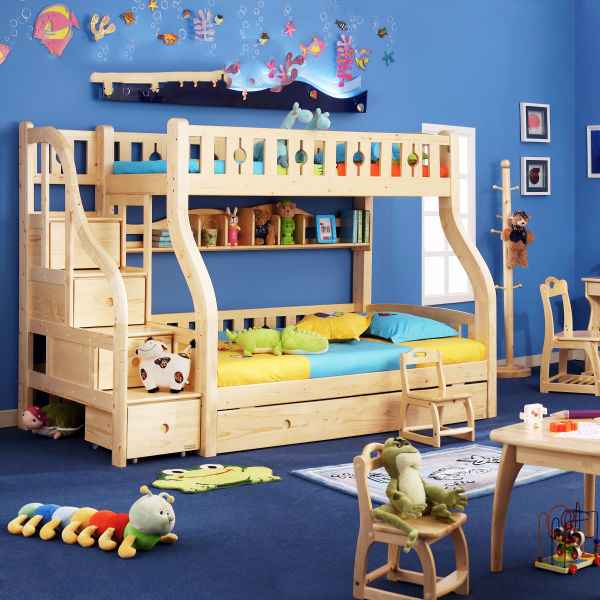 2014 Hot Sale Children Bedroom Furniture Wood/Gloss Bedroom