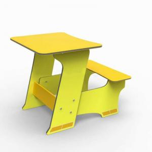 Hot-Sale Children Study Table Furniture Yellow
