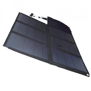 Wholesale Foldable Solar Charger Solar Bag 60W 5V 2100mah 18v USB Solar Charger For Mobile Phone Tablet PC Laptops