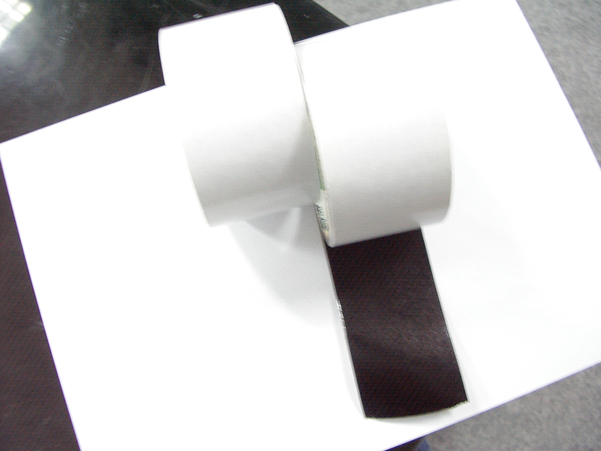 Cut Rolls Double Sided Black Tissue Tape
